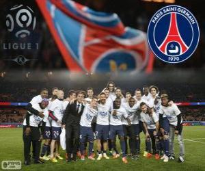 Układanka Paris Saint-Germain, PSG, Ligue 1 mistrz 2013-2014, Francja ligi piłki nożnej