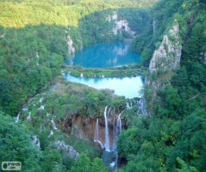 Układanka Park Narodowy Jezior Plitwickich, Chorwacja