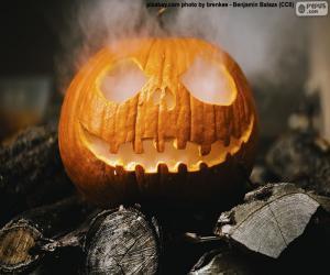 Układanka Parze dyni Halloween