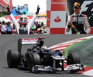 Układanka Pastor Maldonado świętuje zwycięstwie w Grand Prix Hiszpanii (2012)