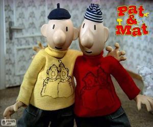 Układanka Pat i Mat, dwóch przyjaciół