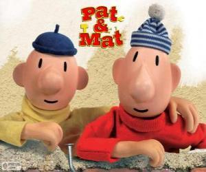 Układanka Pat i Mat, najzabawniejszych pomocnik