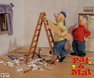 Układanka Pat i Mat pracy