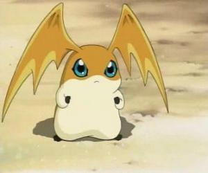 Układanka Patamon jest partnerem Digimon TK jest Digivolution z Potomon i Tokomon