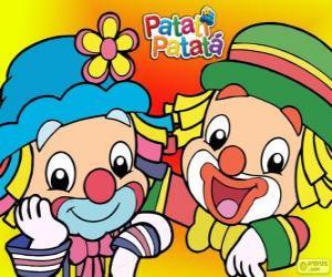 Układanka Patati i Patatá, dwóch Klauni są wielkimi przyjaciółmi