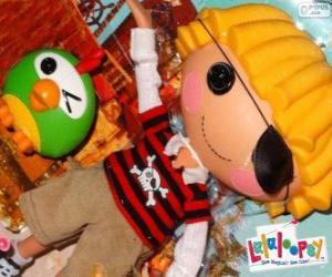 Układanka Patch Treasurechest od Lalaloopsy ze swoim zwierzakiem, papuga