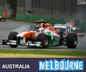 Układanka Paul di Resta - Force India - Melbourne 2013