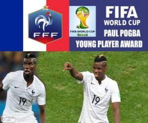 Układanka Paul Pogba, nagrody młodym graczem. Brazylia 2014 roku Puchar Świata