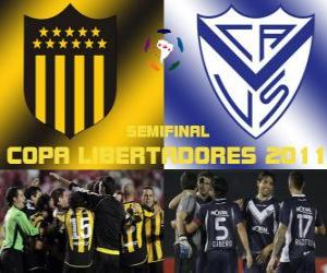 Układanka Peñarol Montevideo - Velez Sarsfield. Copa Libertadores 2011 Półfinał