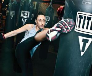 Układanka Pełny kontakt kickboxing lub szkolenia hits fighter na worek