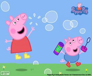 Układanka Peppa Pig i baniek mydlanych