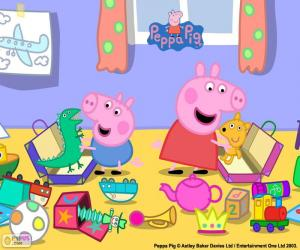 Układanka Peppa Pig i George