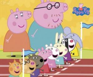 Układanka Peppa Pig i jego przyjaciele, przygotowane do kariery