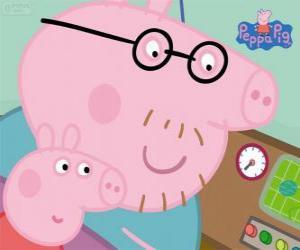 Układanka Peppa Pig i jej ojciec