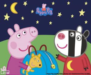 Układanka Peppa Pig i Zoe Zebra