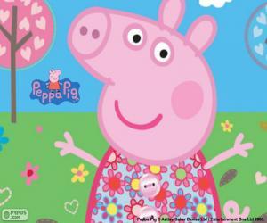 Układanka Peppa Pig kwiat sukienka