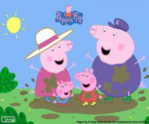 Układanka Peppa Pig u dziadków