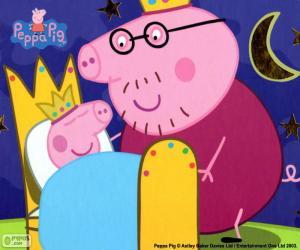 Układanka Peppa Pig w łóżku