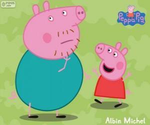 Układanka Peppa Pig z ojcem