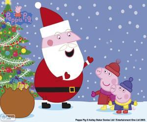 Układanka Peppa Wesołych Świąt