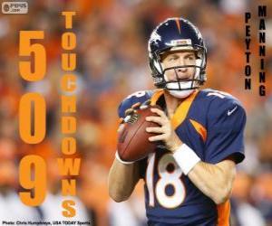 Układanka Peyton Manning 509 touchdowns