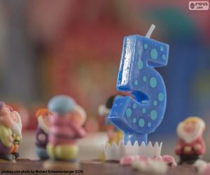 Układanka Piąte urodziny