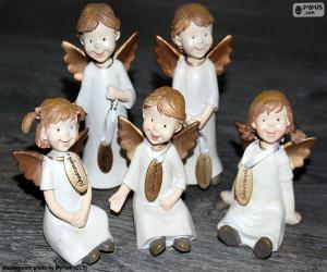 Układanka Pięciu anioły Boże Narodzenie