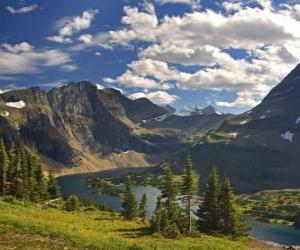 Układanka Piękne górskie krajobrazy