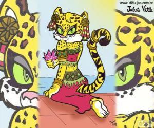 Układanka Piękne tygrysica. Rysunek z Julieta Vitali