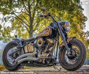Układanka Piękny Harley-Davidson