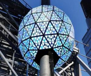 Układanka Piłka w nowy rok, Times Square, Manhattan, New York