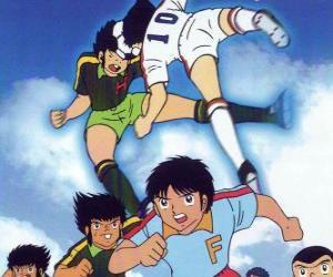 Układanka Piłkarzy w meczu piłki nożnej z Captain Tsubasa