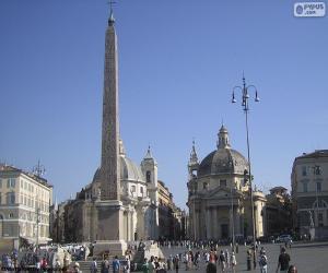 Układanka Piazza del Popolo, Rome