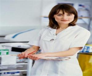 Układanka Pielęgniarek pracujących w szpitalu