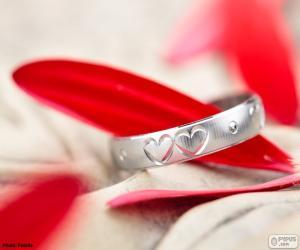 Układanka Pierścień z dwóch serc