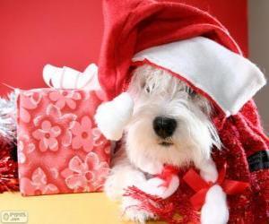 Układanka Pies z kapelusza Święty Mikołaj i jego ofiara