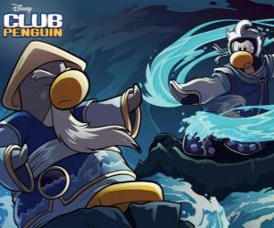 Układanka pingwiny Ninja, bohaterów znanych Club Penguin