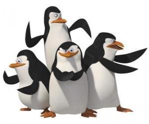 Układanka Pingwiny, Skipper, Kowalski, Rico i prywatnych.