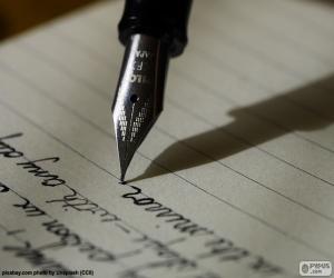 Układanka Pisanie za pióro wieczne