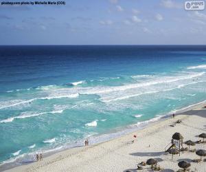 Układanka Plaża w Cancun, Meksyk