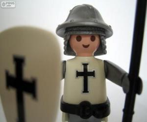 Układanka Playmobil średniowieczny żołnierz