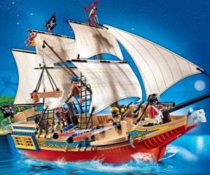 Układanka Playmobil piracki statek