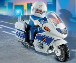 Układanka Playmobil policji motocykla