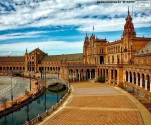 Układanka Plaza Hiszpania, Sewilla, Hiszpania