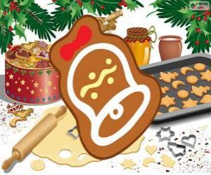Układanka Plik cookie Christmas jako dzwon