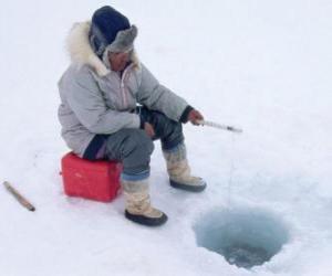 Układanka Połowów na lodzie