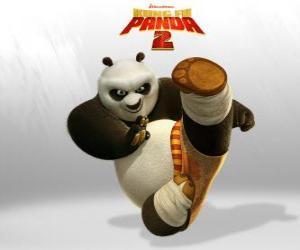 Układanka Po jest głównym bohaterem przygody film Kung Fu Panda 2