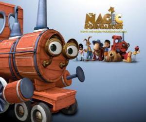 Układanka Pociąg, jeden z magicznych zabawek w filmu Magiczna karuzela