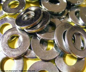 Układanka Podkładki metalowe