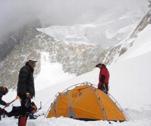 Układanka Podróżnicy montaż namiotu